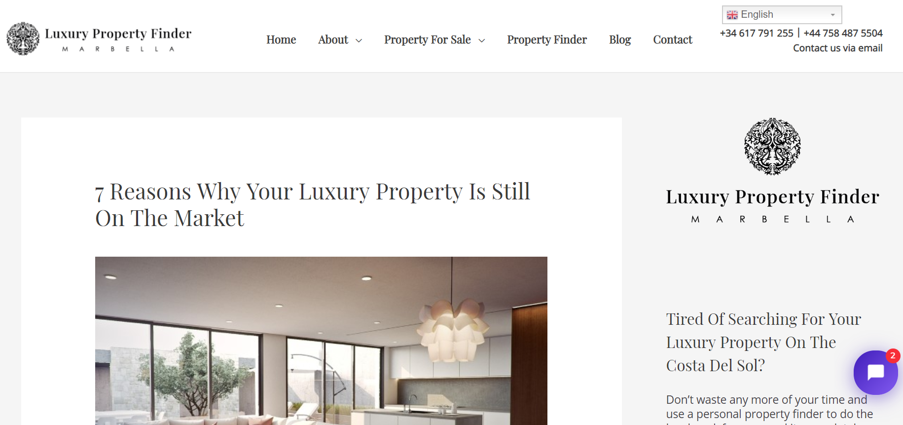 Link to real estate blog post: 7 Reasons Why Your Luxury Property Is Still on the Market