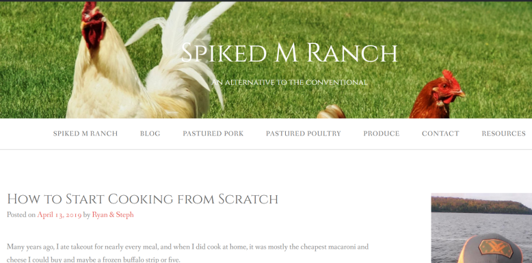 Spiked M Ranch: How to Start Cooking from Scratch