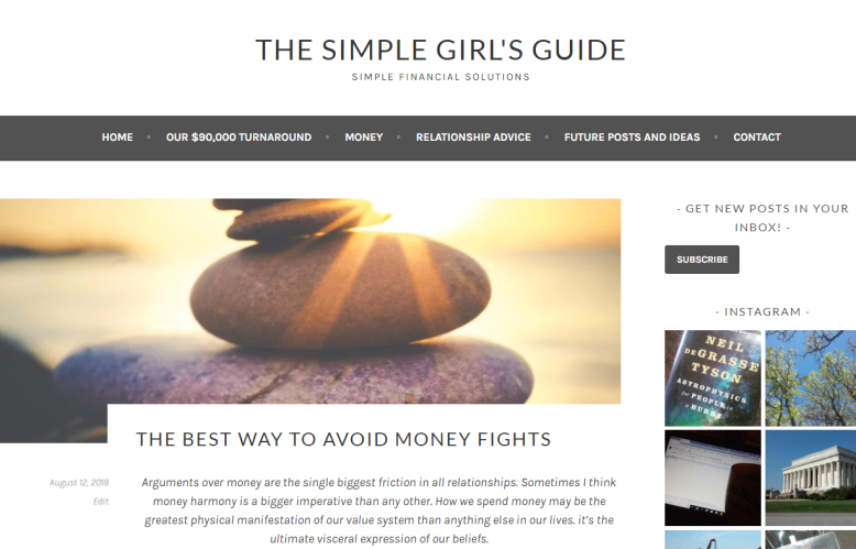 The Simple Girl's Guide: The Best Way to Avoid Money Fights