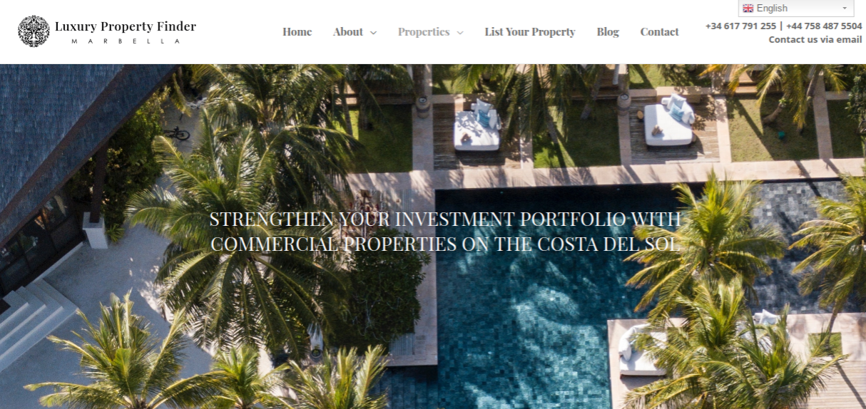 Link to web copy: Commercial Properties and Investments