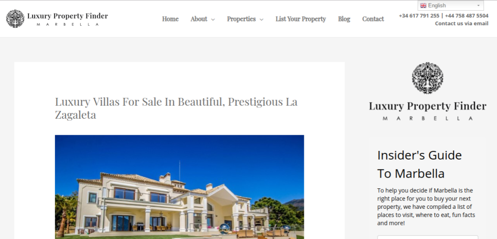 Link to real estate blog post: Luxury Villas for Sale in Beautiful, Prestigious La Zagaleta