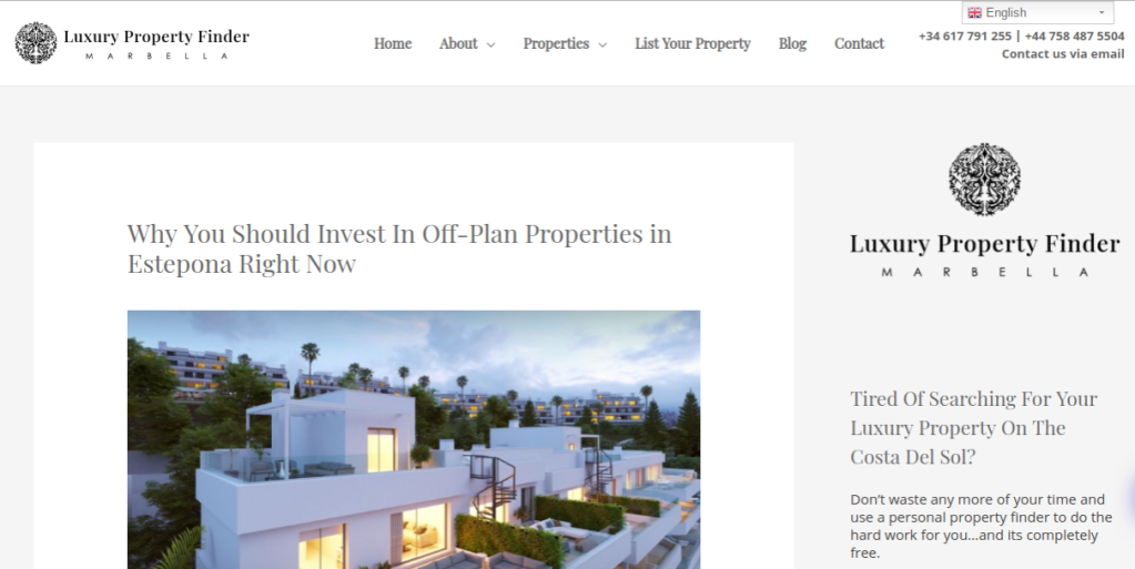Link to blog post: Why You Should Invest in Off-Plan Properties in Estepona Right Now